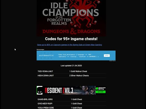 Idle Champions Of The Forgotten Realms New Redeem Codes Added 21.04.2020