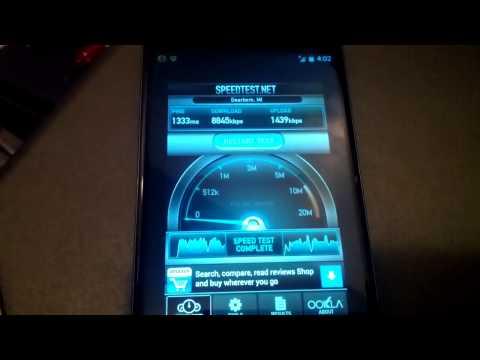 Nexus 4 HSPA+ Speed Test