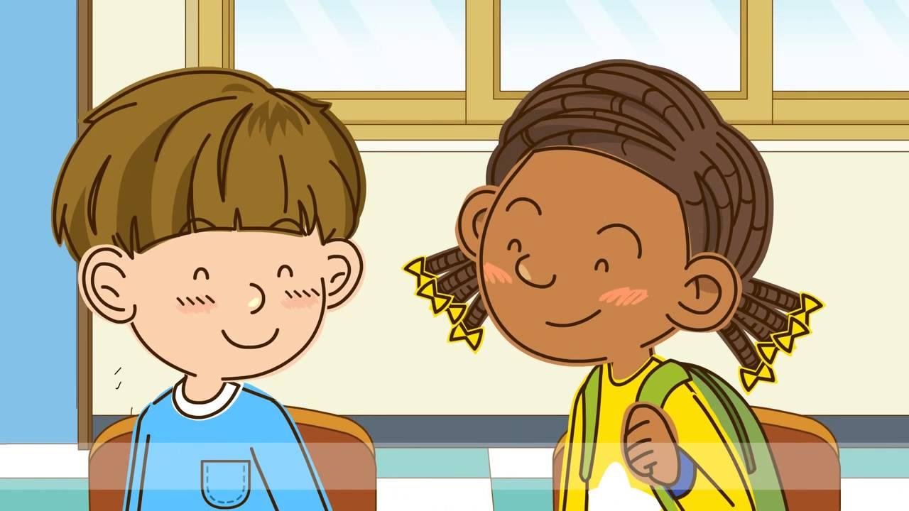 Gambar Kartun Anak Sekolah Sedang Belajar Top Gambar