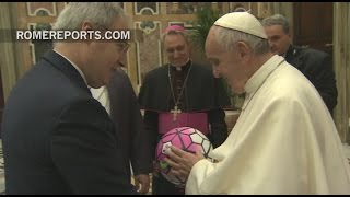 Pope Francis to players from Juventus and AC Milan: Be champions in every part of life!