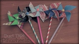 Duct Tape Pinwheel - How To - Summer Crafts Thumbnail
