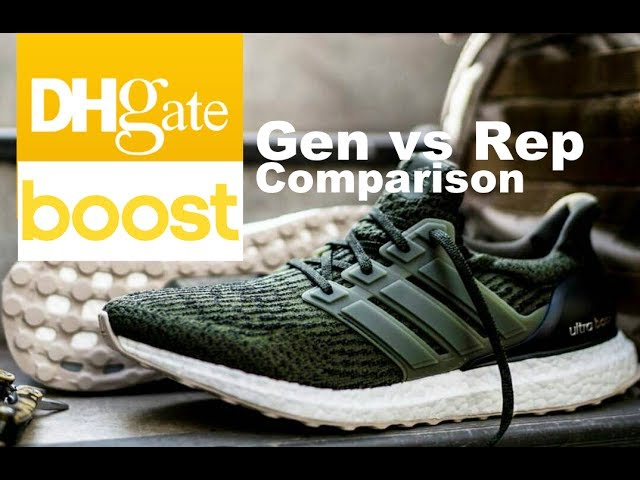 dividendo rescate Asentar  Real v🤔 Fake Ultra Boost 3.0 DHGate AliExpress TaoBao Review Pure Yeezy  Uncaged Adidas On Feet - YouTube