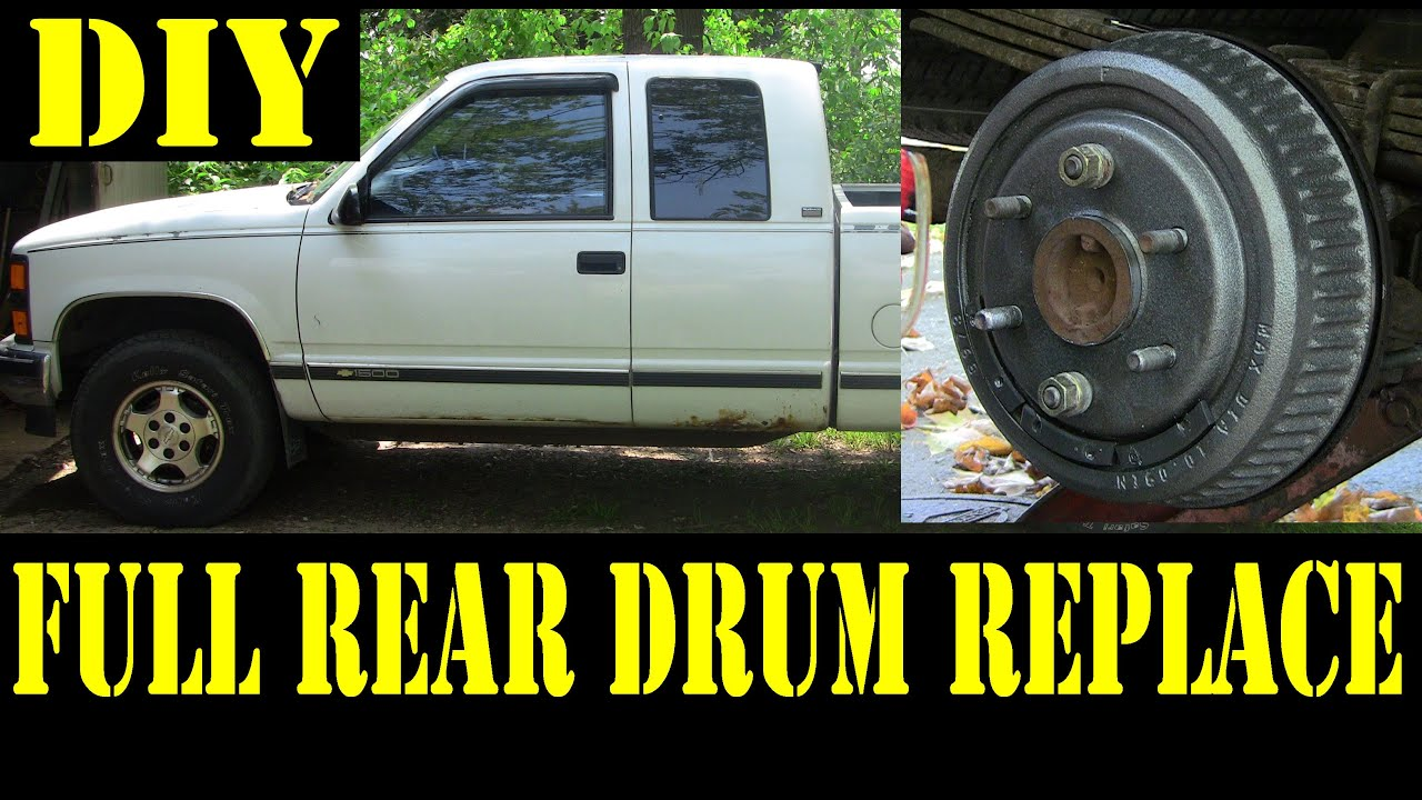 1995 chevy k1500 complete rear drum brakes replacement 4x4 ezgo electric golf cart rear axle diagram chevy truck rear axle diagram