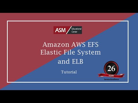 Amazon AWS EFS Elastic File System and ELB