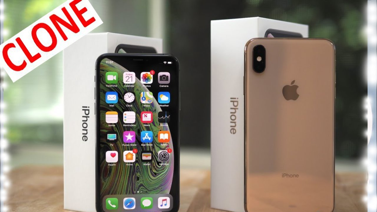 iPhone XS Max CLONE Unboxing Gold & Space Grey 4K Camera High Super Master  Copy || ৮৫০০ টাকা মাত্র