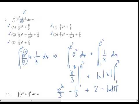 AP Calculus Review Tricky Integral Problems