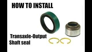 How To | Auto Transaxle-Output Shaft | Auto Trans Output Shaft Seal | Install