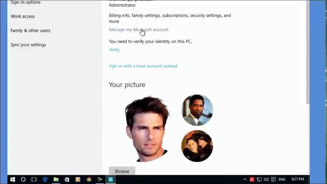 Cách quản lý nhiều tài khoản login vào Windows 10