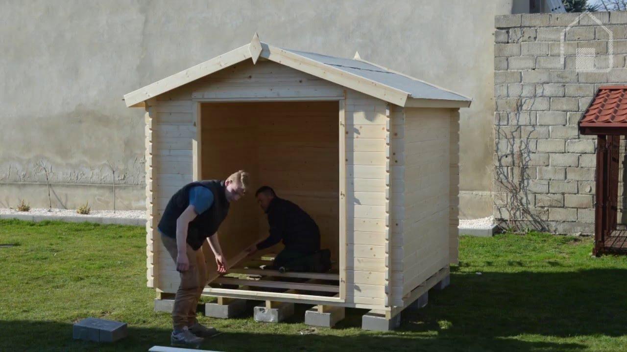 Ogromny Budowa domku narzędziowego MORAVA 250x250 cm - Timber garden shed GK53