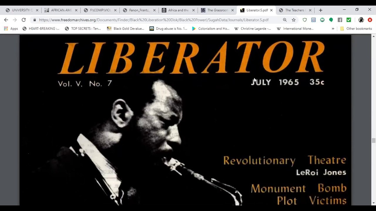 The Liberator Magazine July 1965 Automation and the Negro