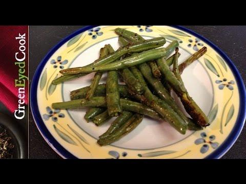 Roasted Green Beans w/ Lemon Pepper
