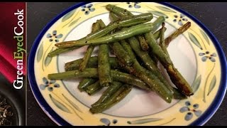 Roasted Green Beans W/ Lemon Pepper