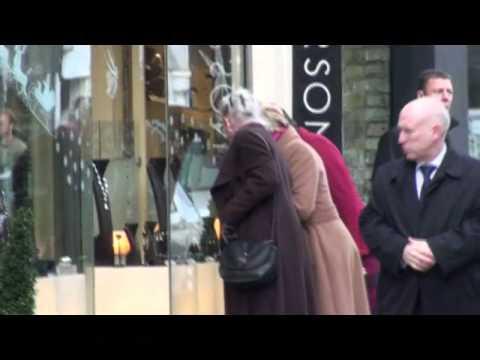 Queen Margrethe II xmas shopping London