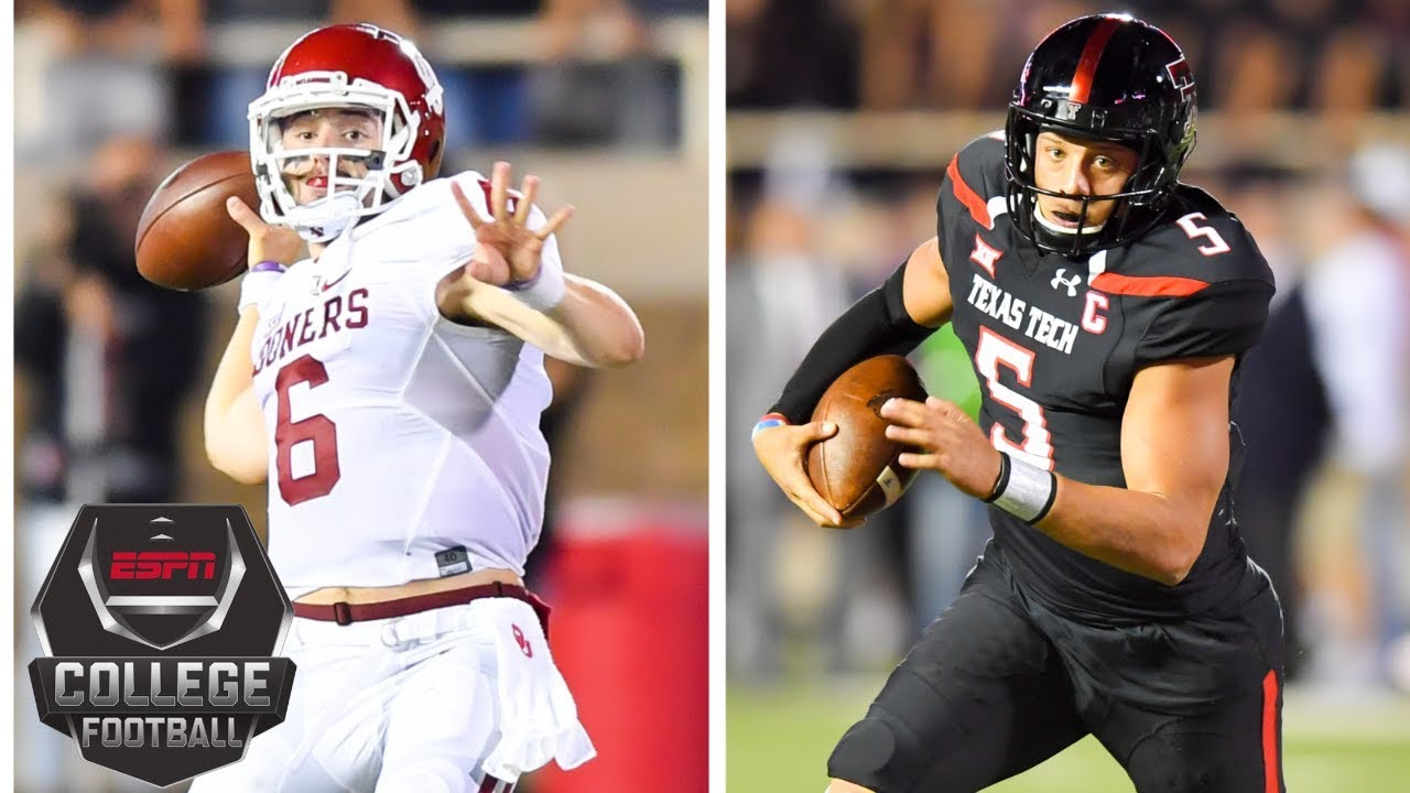 2fe71ce8ed5 Patrick Mahomes vs. Baker Mayfield  Highlights from the classic 2016 ...