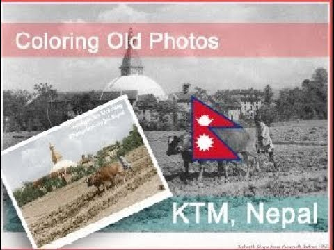 Black in White To Colorful Photo  | Photo Manipulation Photoshop - Kathmandu Nepal
