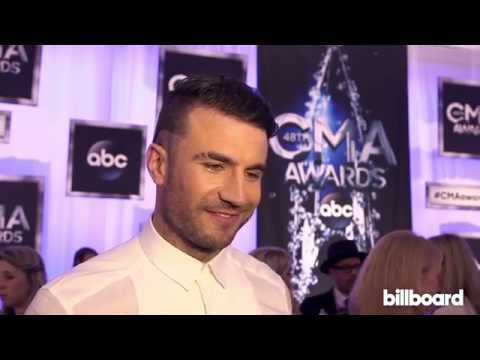Sam Hunt on the CMA Awards Red Carpet 2014