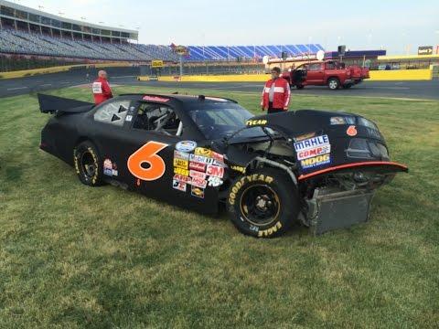 Crash at Charlotte Motor Speedway private testing.