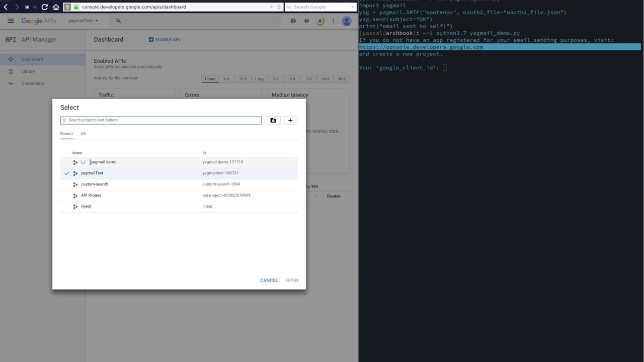 Sending email with Gmail safely using OAuth2 in Python