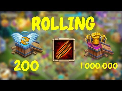 Opening Up 200 Level 5 Talent Chests L Spending 1 000 000 Fame L Castle Clash