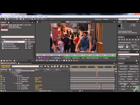 Adobe After Effects CS6 Tutorial |  Stabilizing Shaky Video With The Tracker And Warp Stabilizer