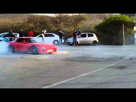 RX7 shredding tires on the streets of Curaçao