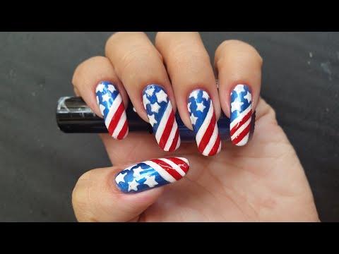 Patriotic 4th Of July🇺🇸  Independence Nails | USA FLAG Nail Art