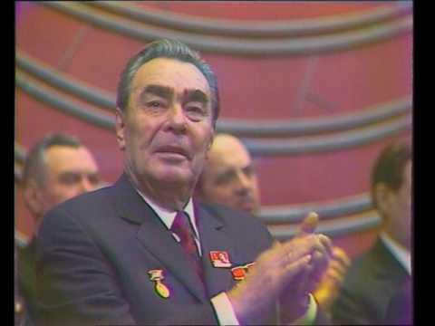 Леонид Ильич Брежнев на XVII съезде ВЛКСМ 23.04.1974 (лучшее качество)