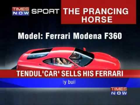 Sachin sells his Ferrari to Surat businessman