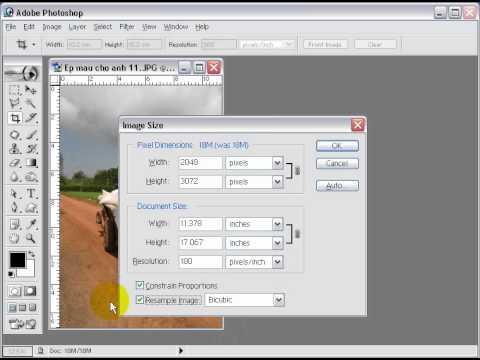 Photoshop CS2 - Phần 4 - Bài 2 - Kích thước ảnh