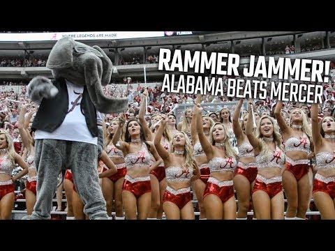 Alabama fans sing Rammer Jammer after Crimson Tide shuts out Mercer