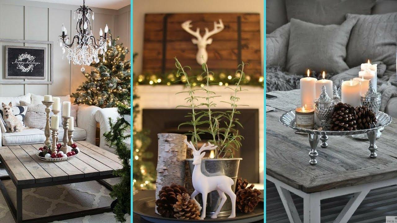Diy Shabby Chic Style Christmas Coffee Table Decor Ideas