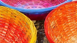 decorar cestas de mimbre 3 maneras faciles decorate wicker baskets 3 easy ways