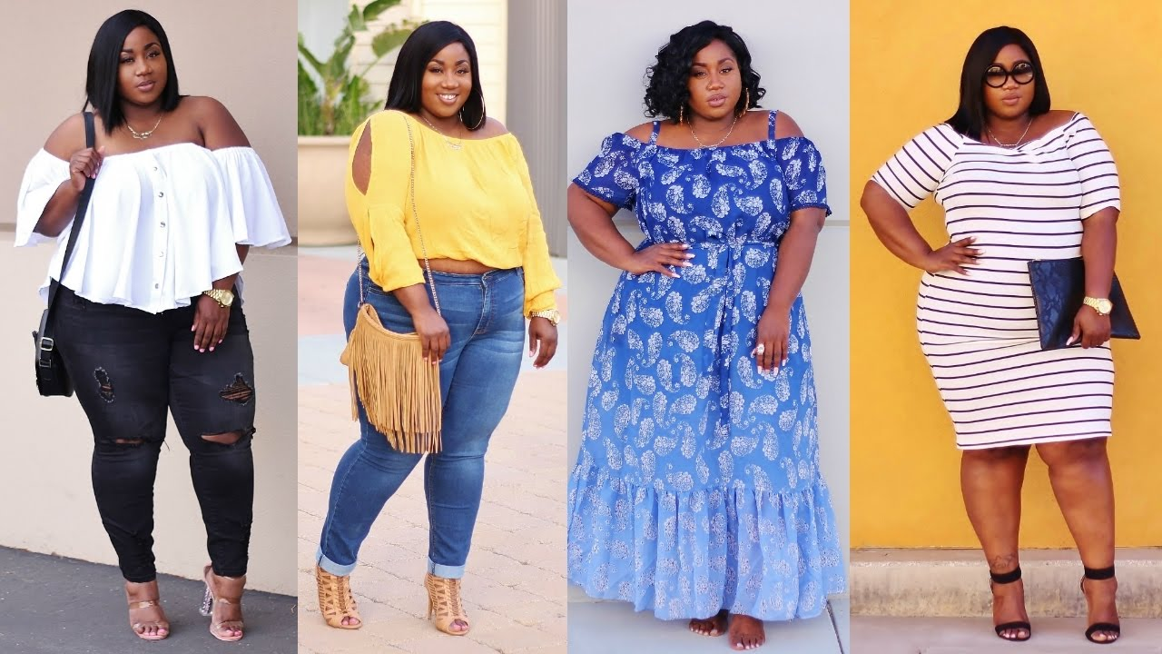 plus size outfit ideas 2017 | ft. rainbow shops - youtube