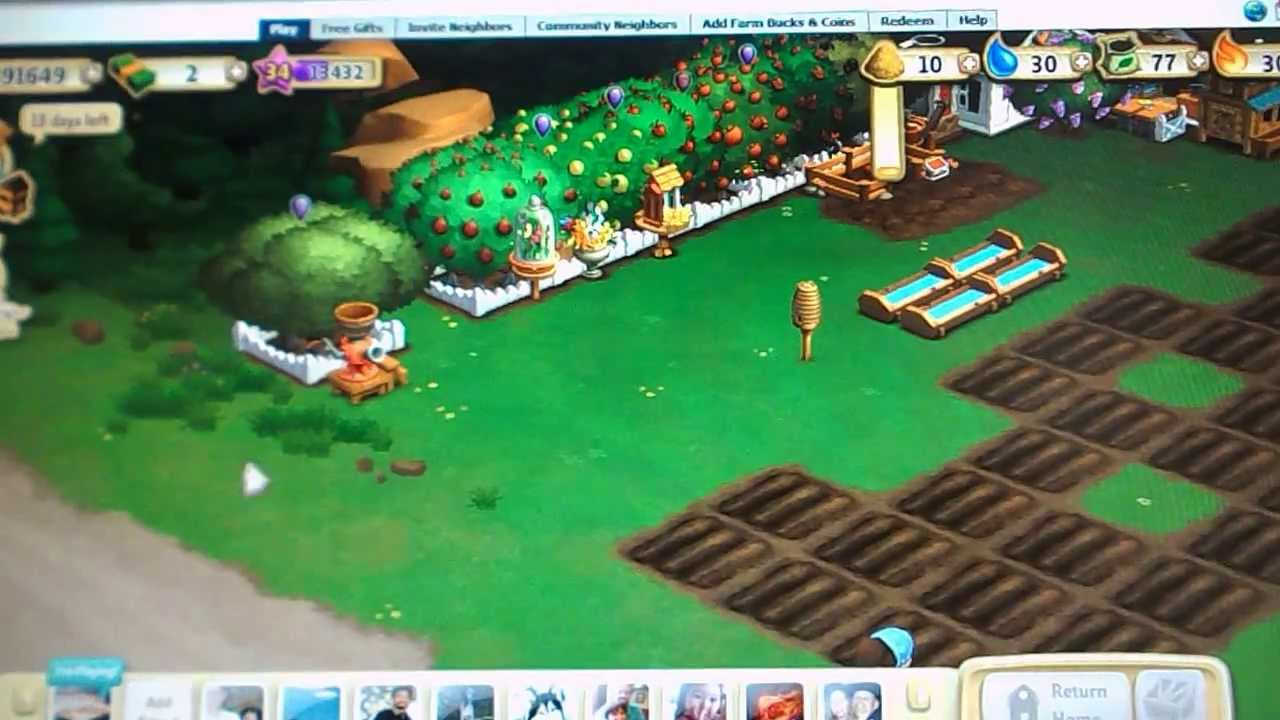 Repeat Farmville 2 tree grove watering trick by janet180971