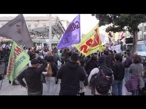 'Heil no!': San Francisco rallies against Trump's revised exec order