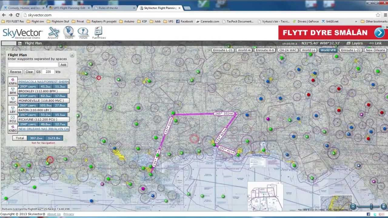 Skyvector flight vfr planning - How To Use Skyvector Ii