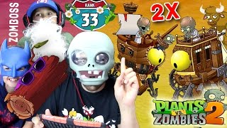 Dr. Zomboss Fights Himself? Lets Play PVZ 2 - THE END!?!? 2x Zomboss Quest (Travelers Log) w/ Mike