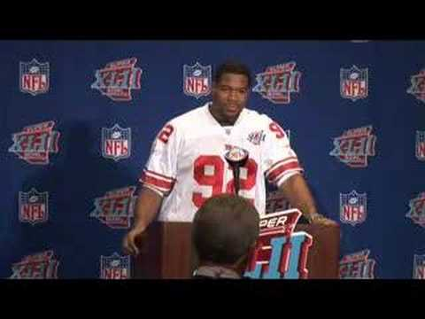 Giants Press Conference availabilty from Super Bowl XLII