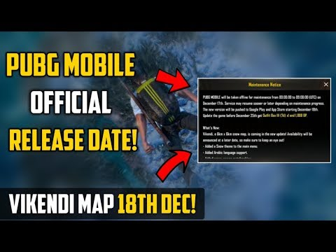 Vikendi Map Official Release Date 18 Dec | 0.10 Update Maintenance Notice !