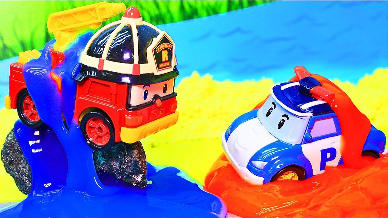 Мультики Робокар Поли и его друзья - Мультфильмы про машинки с игрушками - Эмбер спешит на помощь