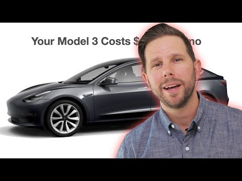Tesla Model 3 Monthly Cost
