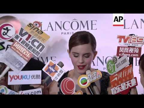 NEW Emma Watson visits Hong Kong as Lancome's new brand ambassador