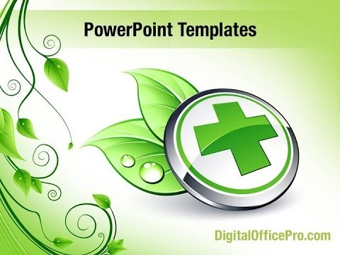 health and safety powerpoint templates - green medicine powerpoint template backgrounds