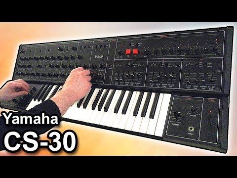 YAMAHA CS-30 - Ambient drone music soundscape【SYNTH DEMO】