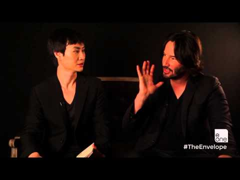 Keanu Reeves & Tiger Hu Chen  TheEnvelope by Carlton Cards