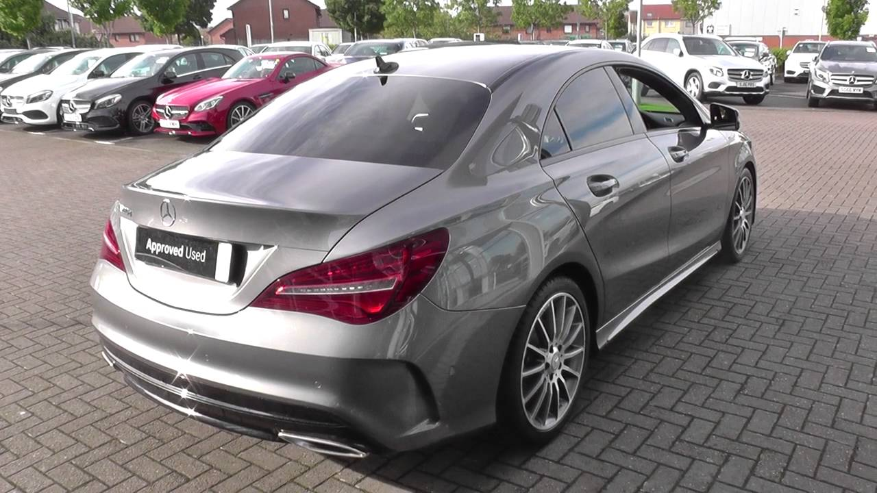 mercedes benz cla class cla 220 d amg line coupe u28024 youtube. Black Bedroom Furniture Sets. Home Design Ideas
