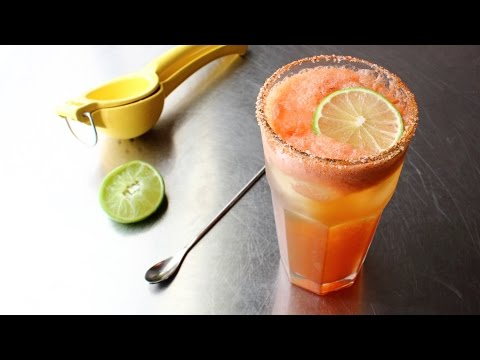 Chef John's Michelada - Spicy & Refreshing Beer, Tomato, Lime Cocktail
