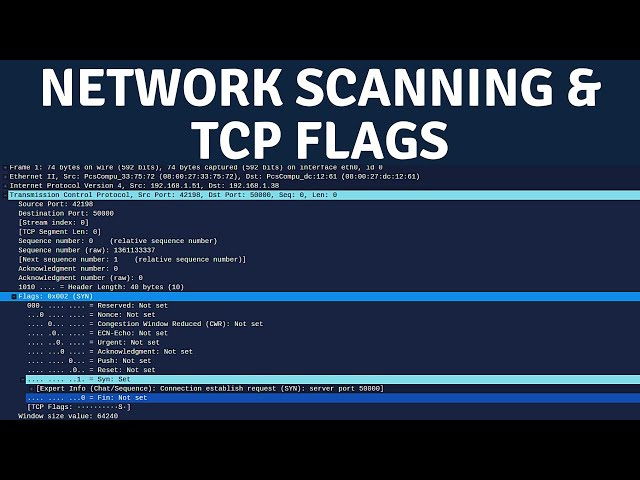 Network Scanning - TCP Flags & TCP 3-Way Handshake