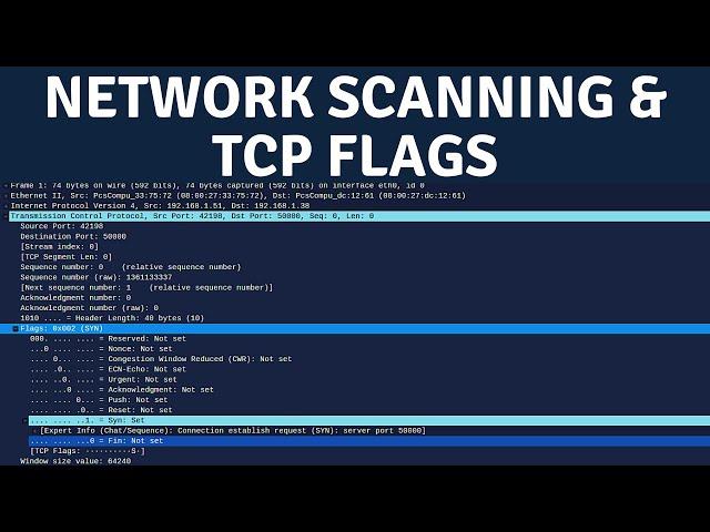 Network Scanning - TCP Flags & TCP 3-Way Handshake