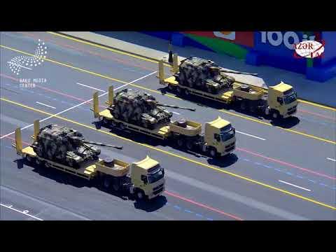 Azerbaijan army military parade 26.06.2018, Baku - 100th Anniversary of Army